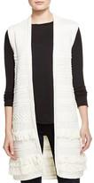Vince Fringe Cable-Knit Vest