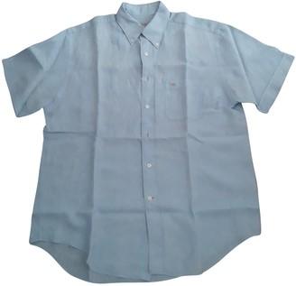 Pedro Del Hierro Blue Linen Shirts