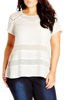 City Chic Ladder Inset Top (Plus Size)
