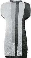 Rick Owens striped longline top - women - Cotton - S
