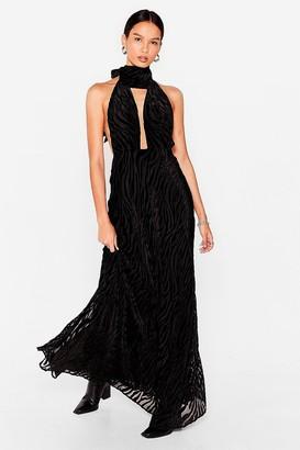 Nasty Gal Womens Savannah Oh Na Na Zebra Maxi Dress - Black
