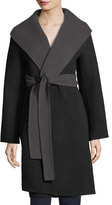 Eileen Fisher Brushed Wool Double-Face Long Coat