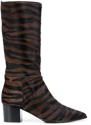Alberto Gozzi zebra-pattern ankle boots