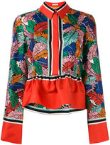 Emilio Pucci frill detail collared blouse - women - Silk - 40