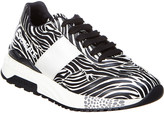 Versace Zebra Print Achilles Leather Sneaker