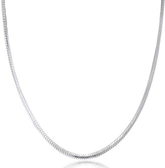 Pori Jewelers 925 Sterling Silver High Polished 1 MM Square Snake 025 Chain Necklace