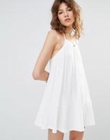 MANGO Cami Frill Hem Dress