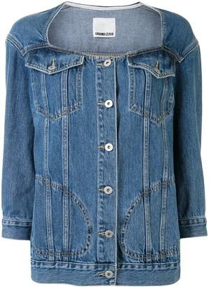 Ground Zero Collarless Denim Jacket