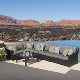 Three Posts Northridge 6 Piece Sectional Seating Group with Cushions