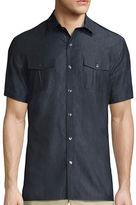 Claiborne Short-Sleeve Military Woven Shirt