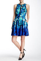 Vince Camuto Keyhole Pleat Dress