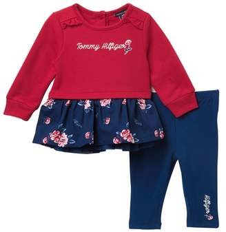 Tommy Hilfiger Floral Ruffle Tunic & Leggings Set (Baby Girls)