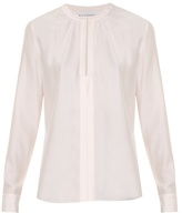 Altuzarra Marie split-neck silk blouse