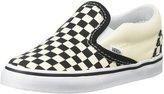 Vans Classic Slip-On (Toddler) - Black and White Checker/White-9.5 Toddler