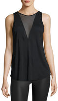 Alo Yoga Warm Up Mesh-Inset Tank Top, Grenache