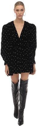 Dodo Bar Or Crystal Embellished Velvet Mini Dress