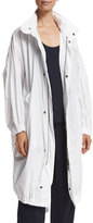 Vince Long Cotton Twill Anorak, White