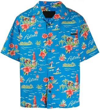 Prada Hawaiian short sleeve shirt