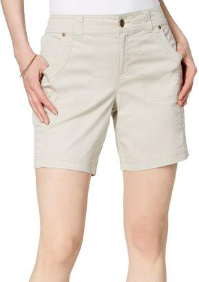 Style&Co. Style & Co. Petite Relaxed-Fit Mid-Rise Cotton Shorts
