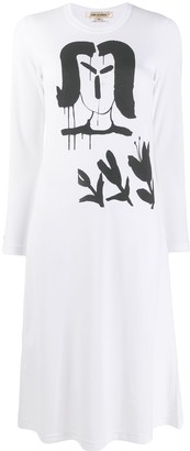 Comme des Garcons graphic print shirt dress