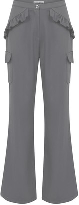 Kith & Kin Grey Frilled & Side Pockets Pants