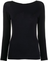 Giorgio Armani long sleeve ribbed-knit top