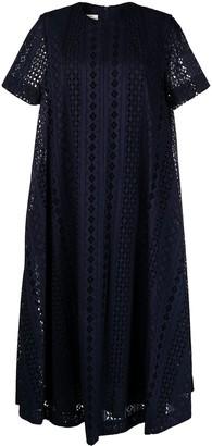 Baum und Pferdgarten Embroidered Short-Sleeved Maxi Dress