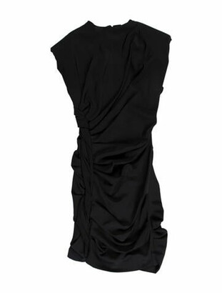 CARMEN MARCH Cowl Neck Mini Dress w/ Tags Black