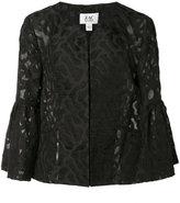 Zac Posen Tegan jacquard jacket - women - Cotton/Nylon/polyester - 0