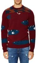 Salvatore Ferragamo Intarsia Fish Sweater