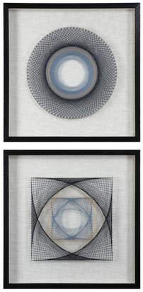 Uttermost String Duet Geometric Art, Set of 2