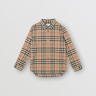 Burberry Childrens Vintage Check Cotton Poplin Shirt