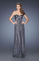 La Femme 19299 Sequined Sweetheart Jeweled Dress