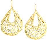 Devon Leigh Golden Filigree Teardrop Earrings