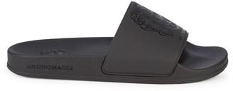 Bruno Magli Martino Logo Crest Slide Sandals