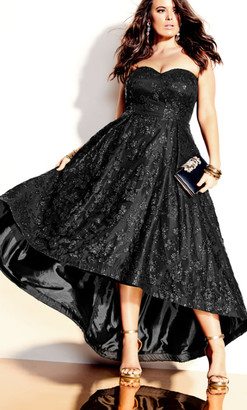 City Chic Krystal Maxi Dress - black