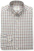 Ben Sherman Men's Check Stripe Shirt with Button Down Collar