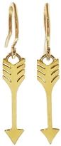 Jennifer Meyer Arrow Drop Earrings - Yellow Gold