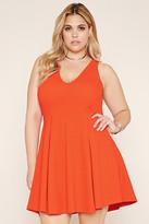 Forever 21 FOREVER 21+ Plus Size Textured Skater Dress
