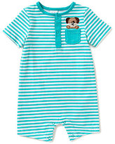 Starting Out Baby Boys Newborn-9 Months Striped Dog-Applique Shortall