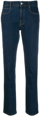 Stella McCartney Monogram-Lining Slim-Fit Jeans