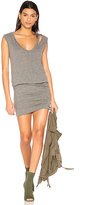 Pam & Gela Slash Neck Ruched Dress in Gray. - size L (also in )