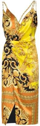 Versace chain baroque print dress