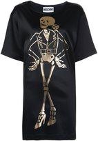Moschino skeleton T-shirt dress - women - Acetate/Rayon/other fibers - 40