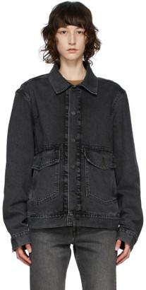 Levi's Levis Black Denim Work Trucker Jacket
