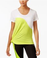 Puma dryCELL Side-Knot Asymmetrical-Hem Top