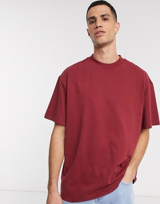Weekday Great t-shirt in dark red