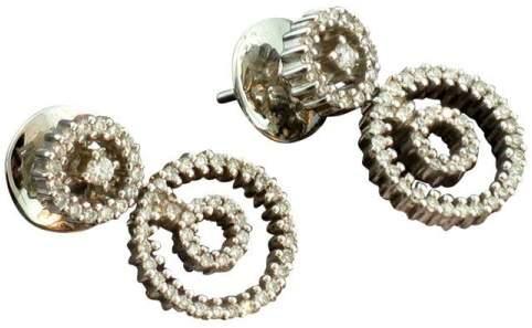 Damiani 18K White Gold & Diamond Drop Earrings