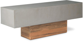 One Kings Lane Urban Concrete Bench - Gray - base, natural; top, slate gray
