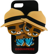 DSQUARED2 twin bear iphone case - men - silicones - One Size